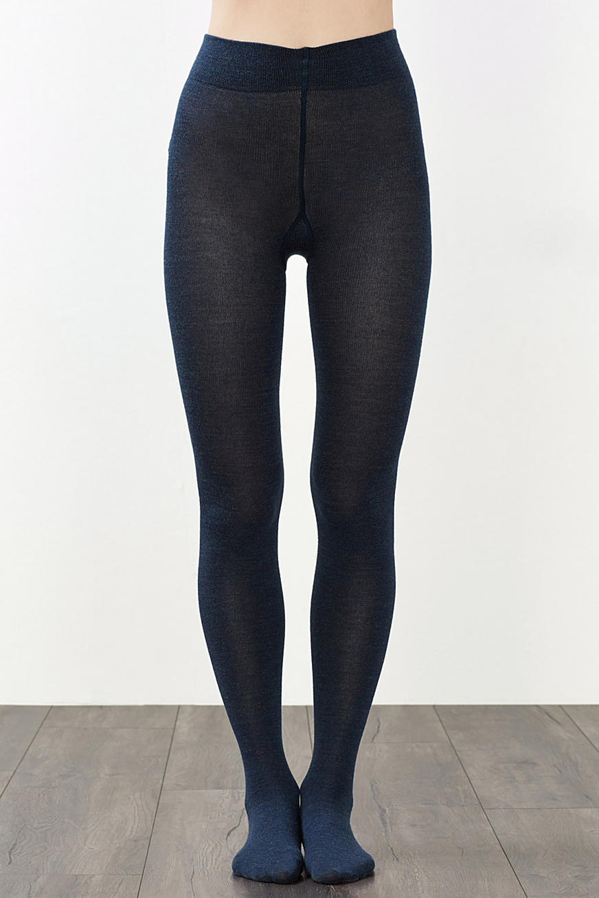 Tights made of soft knit yarn with wool
