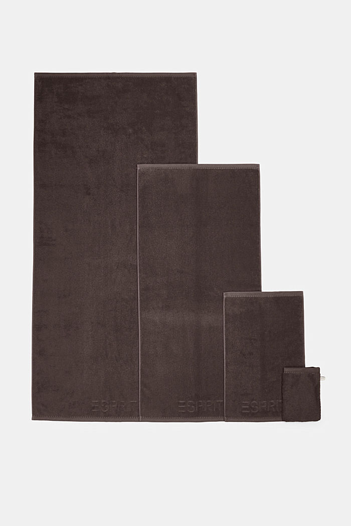 With TENCEL™: terry cloth towel collection, DARK BROWN, detail image number 4