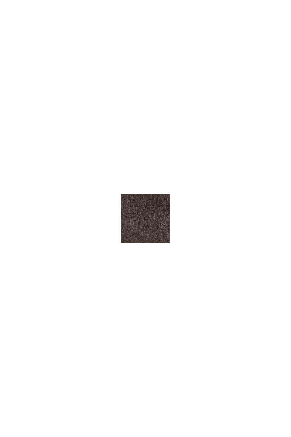 Met TENCEL™: handdoekenlijn van badstof, DARK BROWN, swatch