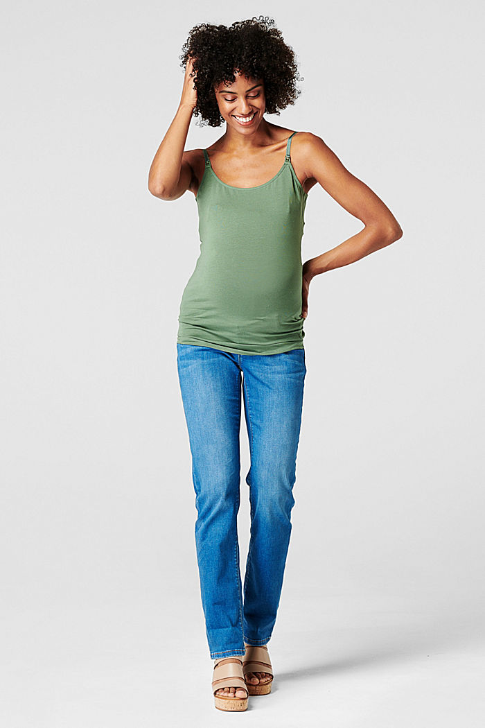 Stretch-Top mit Stillfunktion, Organic Cotton, VINYARD GREEN, detail image number 0