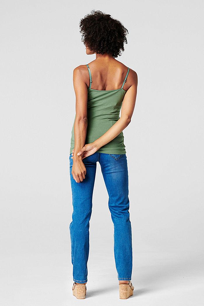 Stretch nursing top, organic cotton, VINYARD GREEN, detail image number 1
