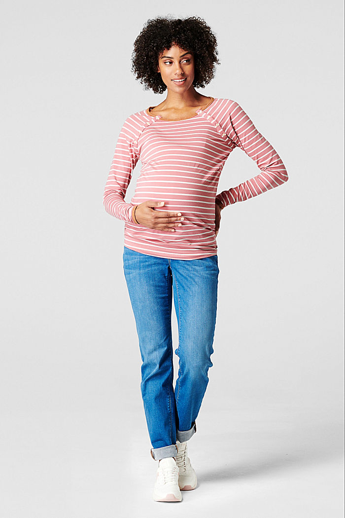 Long sleeve nursing top, ROSE SCENT, detail image number 0