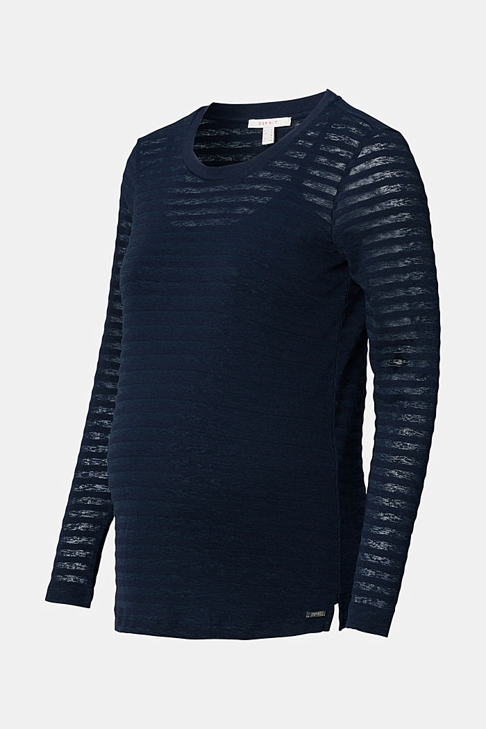 Burnt-out long sleeve nursing top