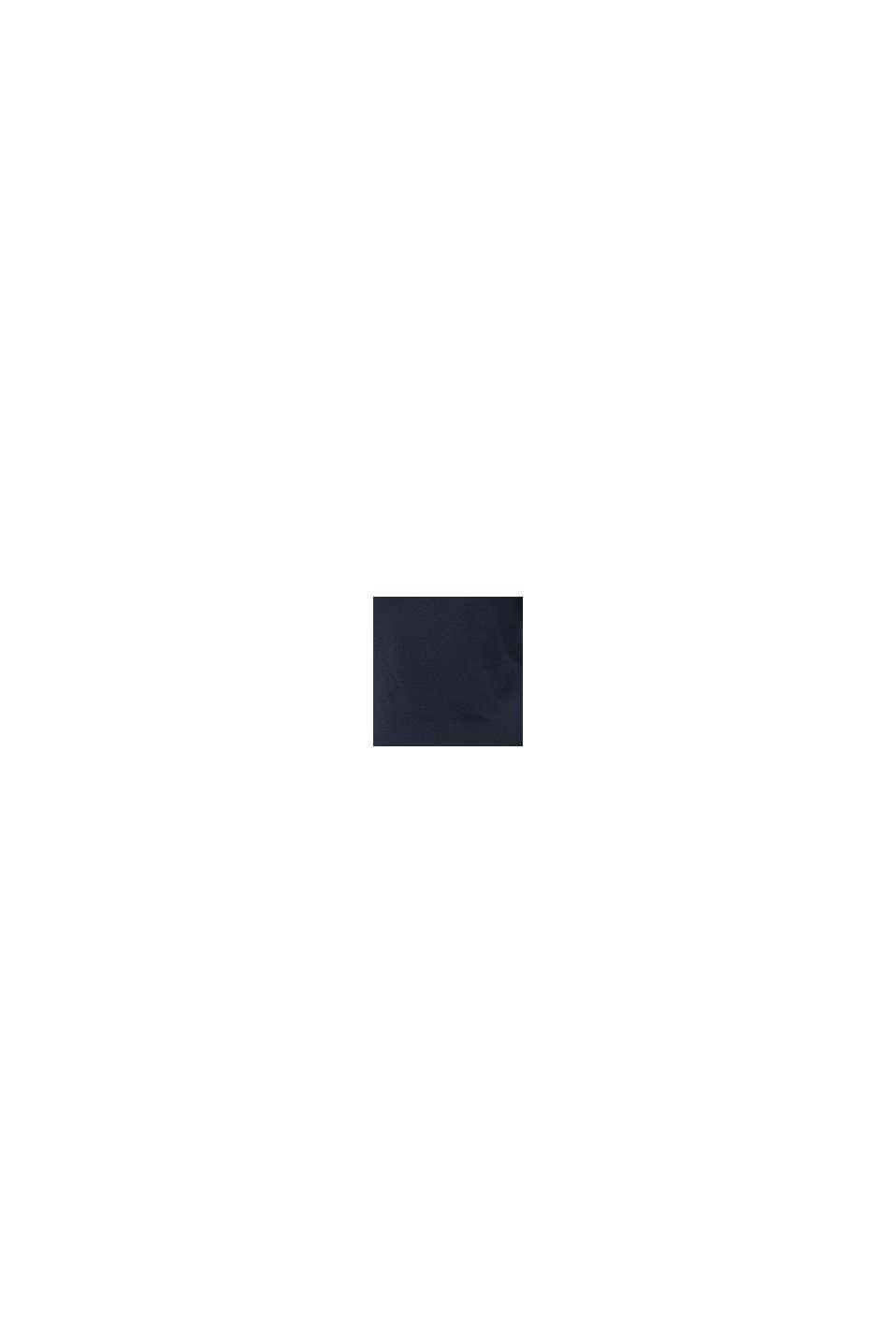 Shirt van biologisch katoen met logo, NIGHT SKY BLUE, swatch