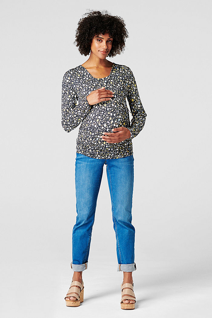 Nursing long sleeve top, LENZING™ ECOVERO™