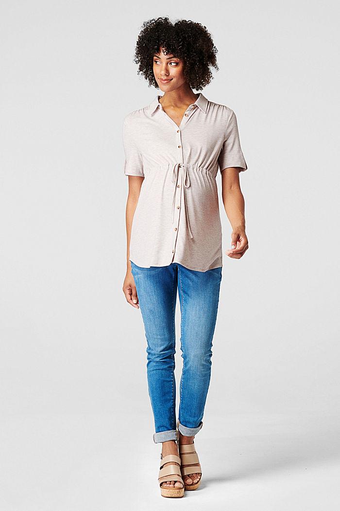 Stillfreundliches T-Shirt in Blusen-Optik