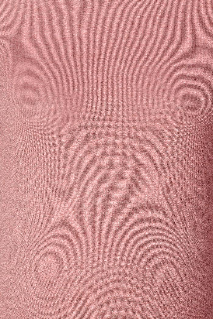 Pull-over en fine maille à fentes latérales, ROSE SCENT, detail image number 2
