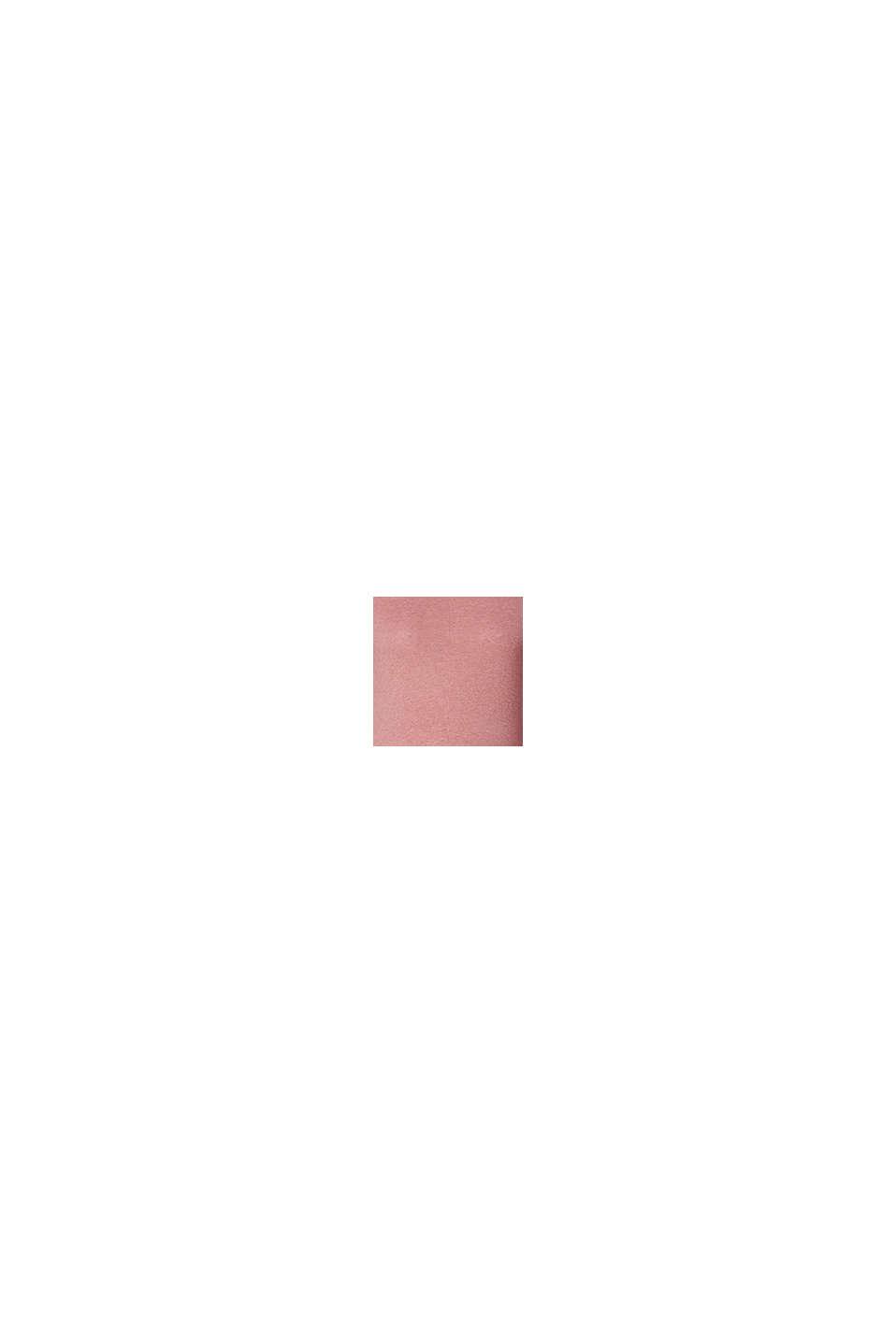 Pullover i finmasket strik med sideslidser, ROSE SCENT, swatch