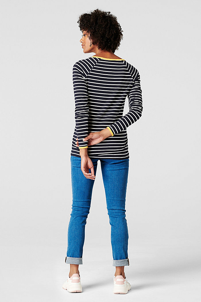 Stretch jeans with an over-bump waistband, BLUE LIGHT WASHED, detail image number 1
