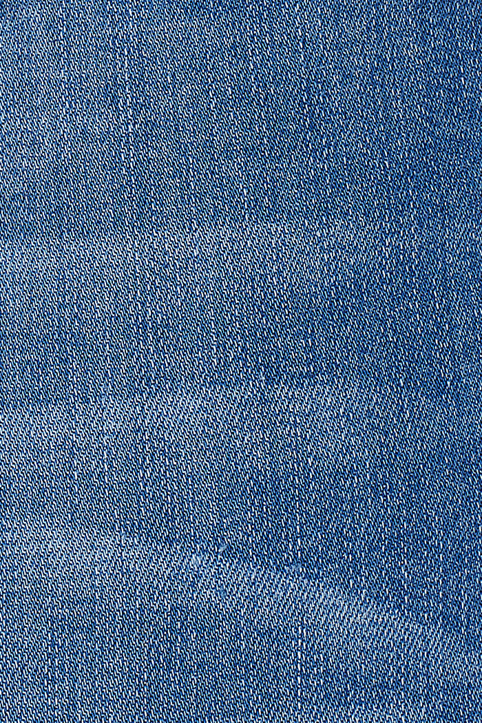Stretch jeans with an over-bump waistband, BLUE LIGHT WASHED, detail image number 2