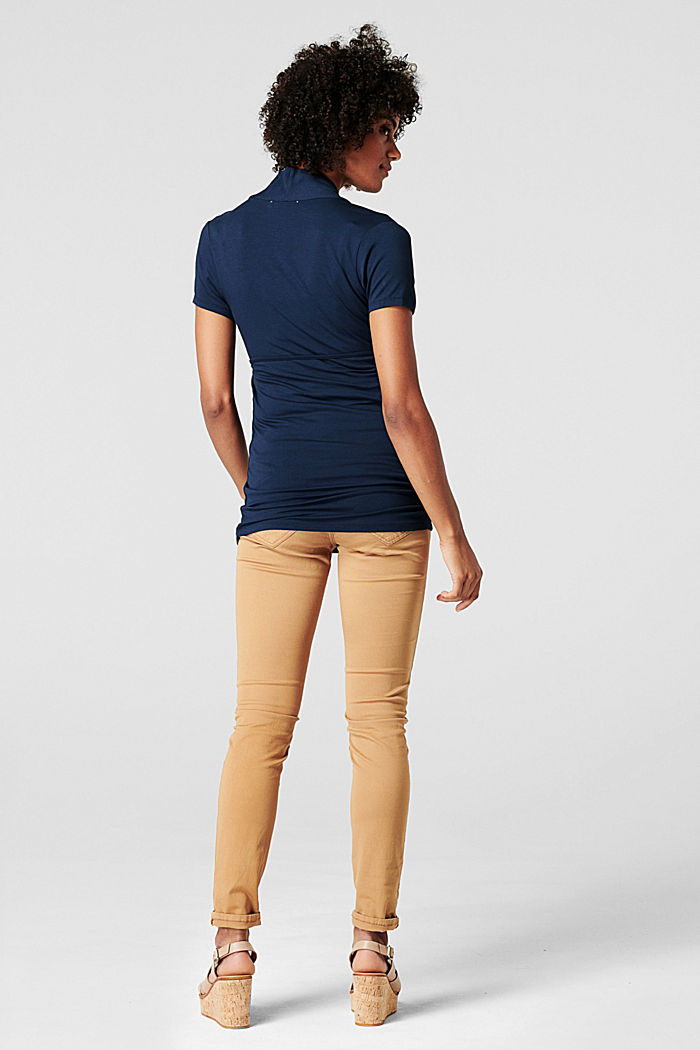 Stretch trousers with an over-bump waistband, ACORN BEIGE, detail image number 2