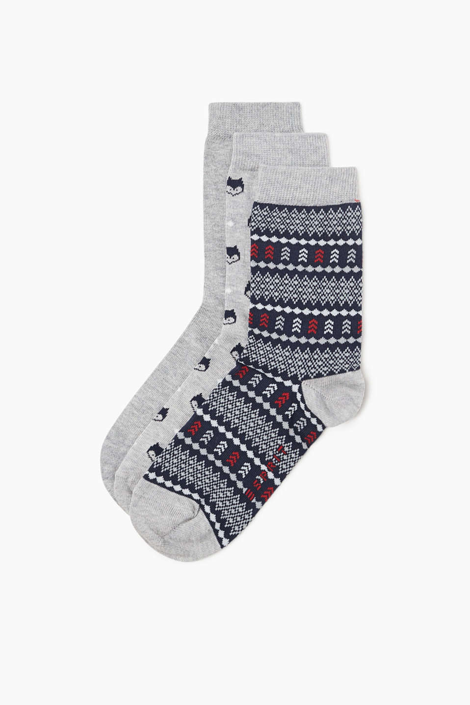 Esprit - Three-pair pack of socks with a pattern