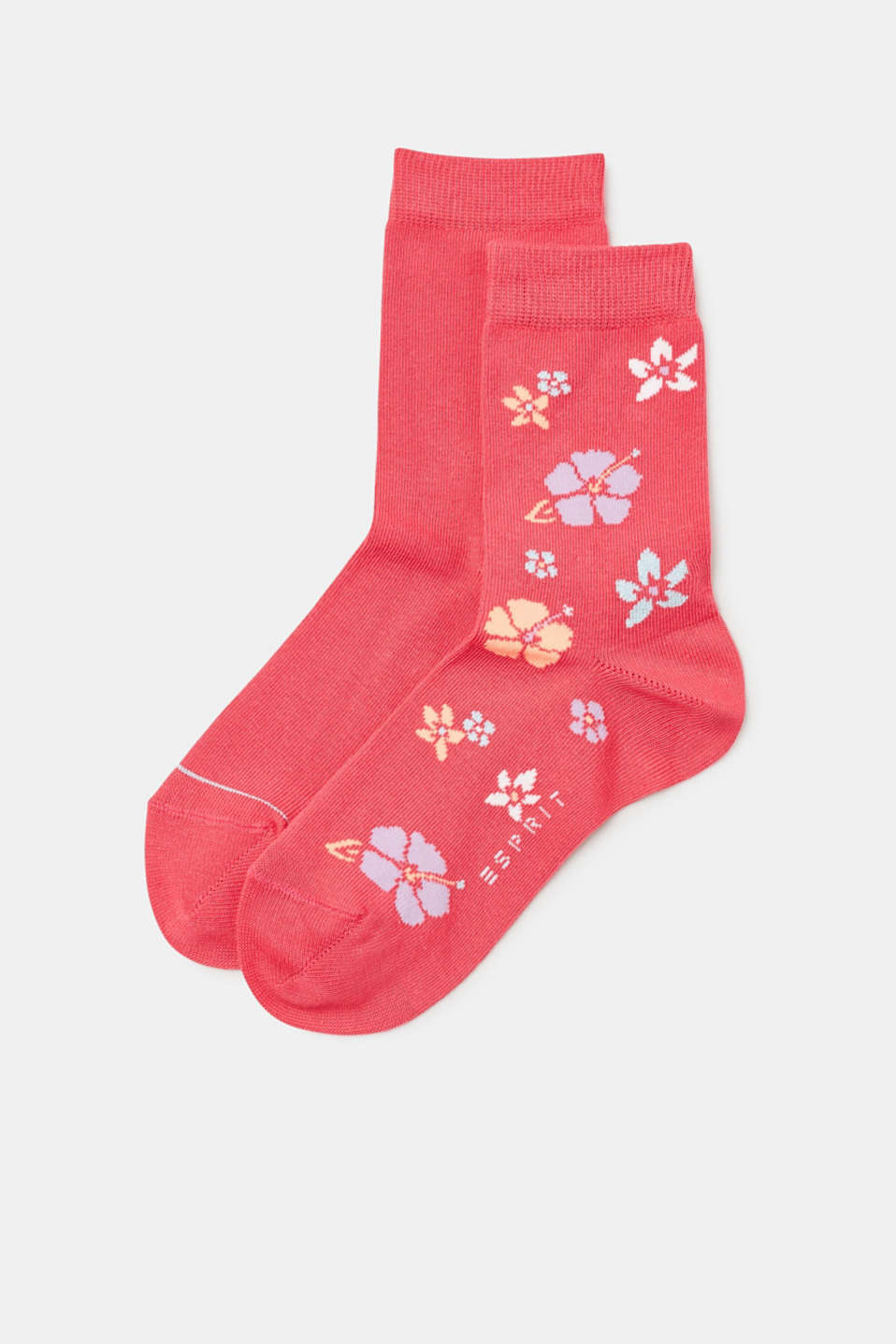 Esprit - Double pack of socks with sparkling flower intarsia