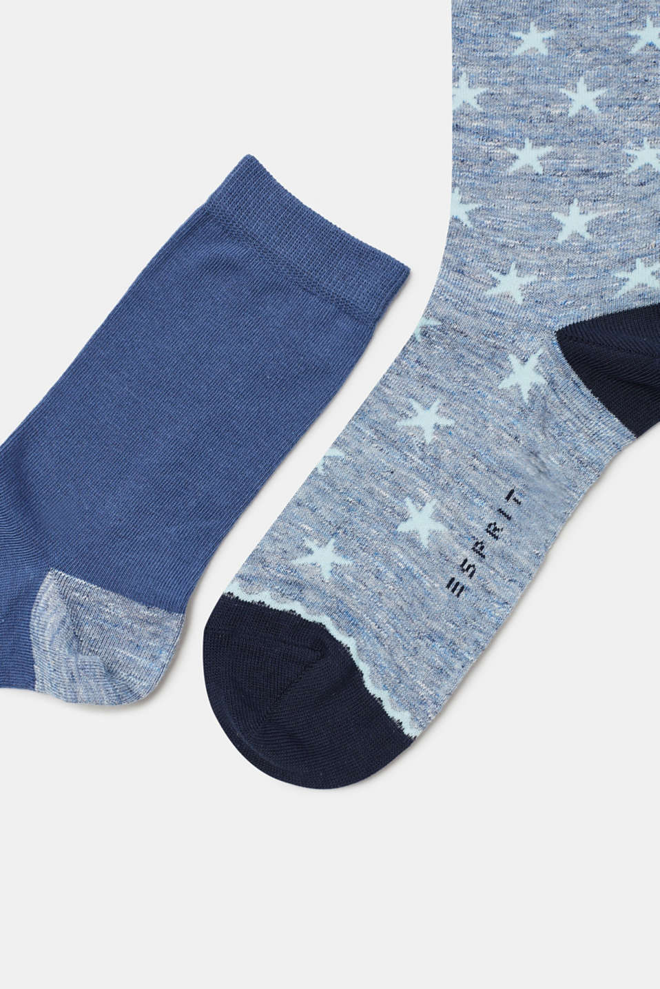 Double pack of socks with a star pattern