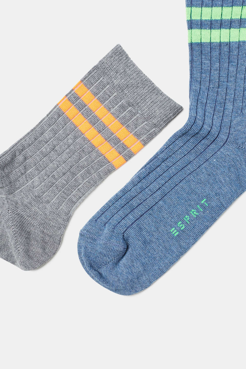 Three pack of socks with neon details
