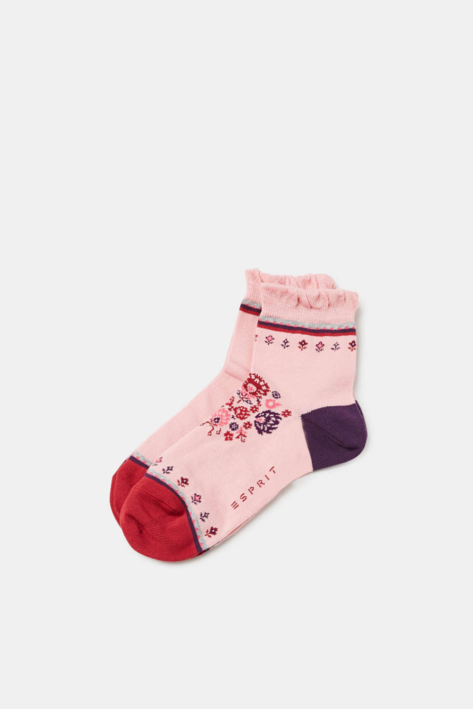 Double pack of socks with frills, ANTIQUE ROSE, detail image number 0