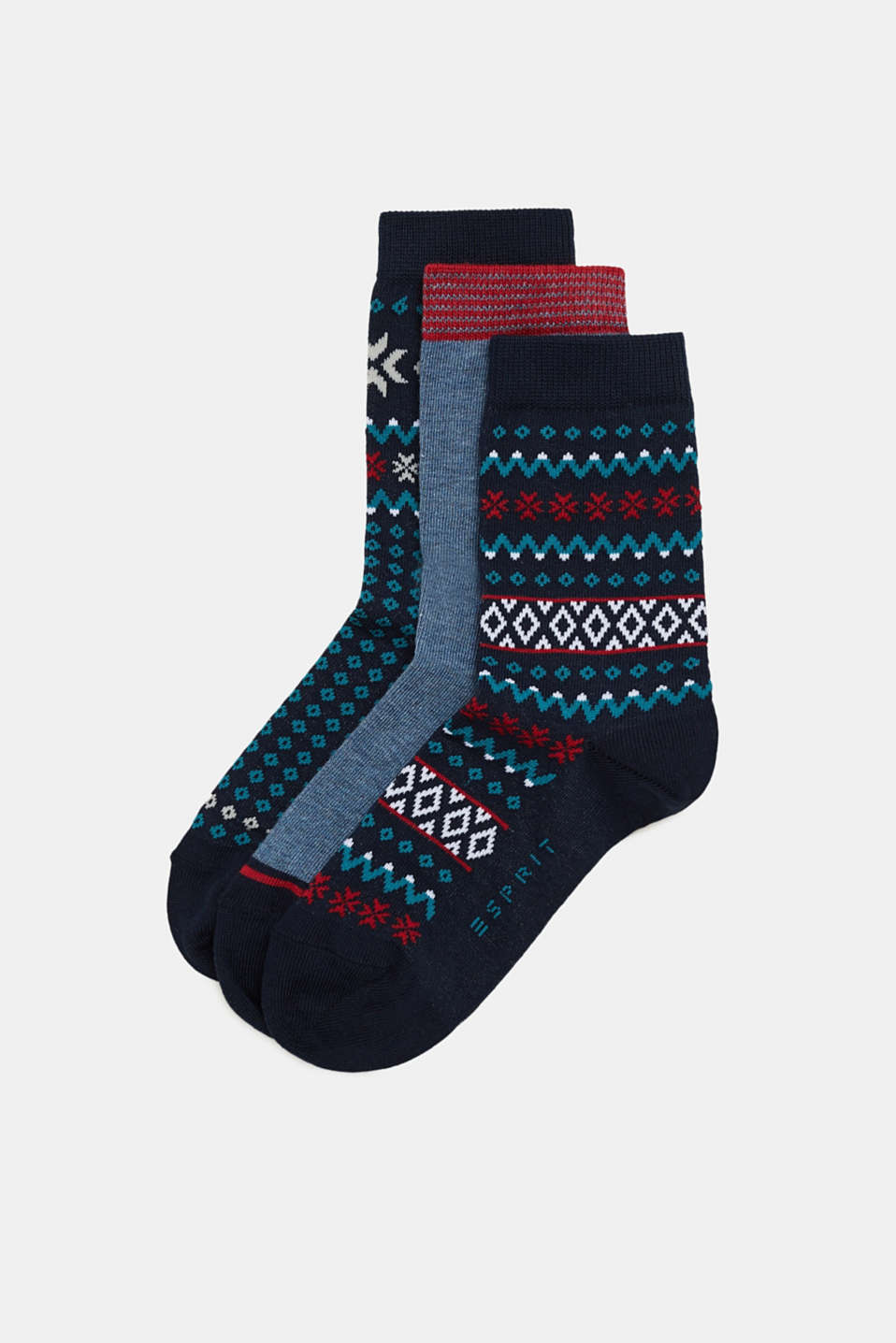 Esprit - Three pack of socks with a mix of patterns