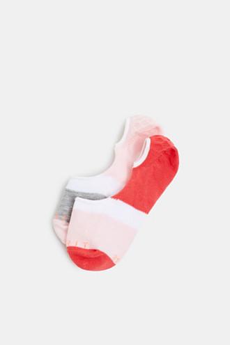 Double pack of non-slip trainer socks