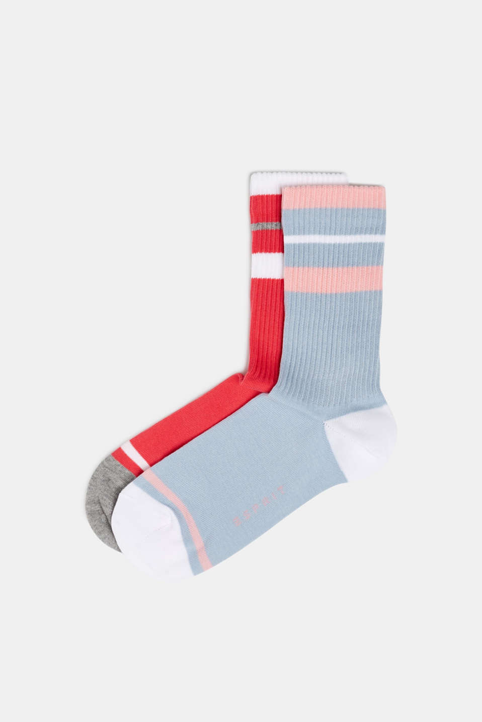 Esprit - Double pack of socks with sporty stripes