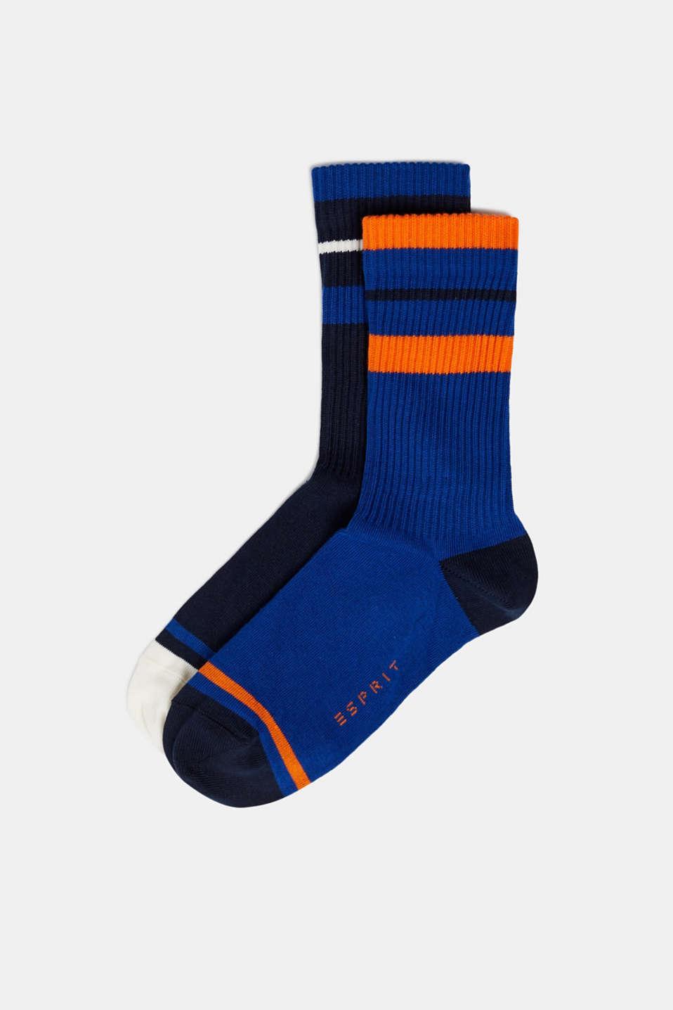 Socks, BLUE/BLACK, detail image number 0