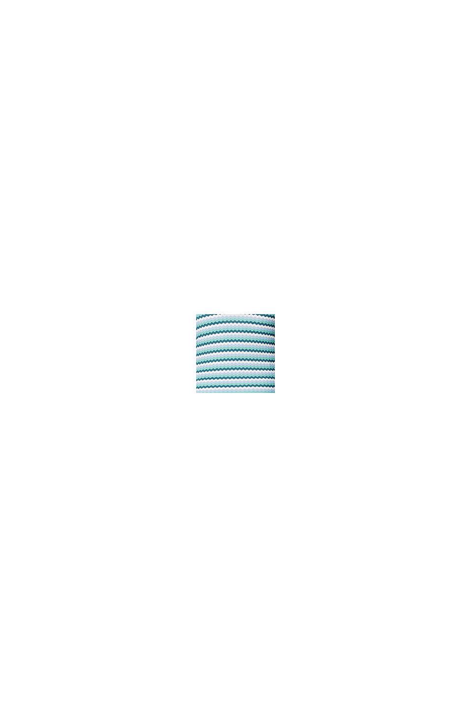 Topattu siksak-kuvioinen tankini-toppi, LIGHT BLUE, swatch