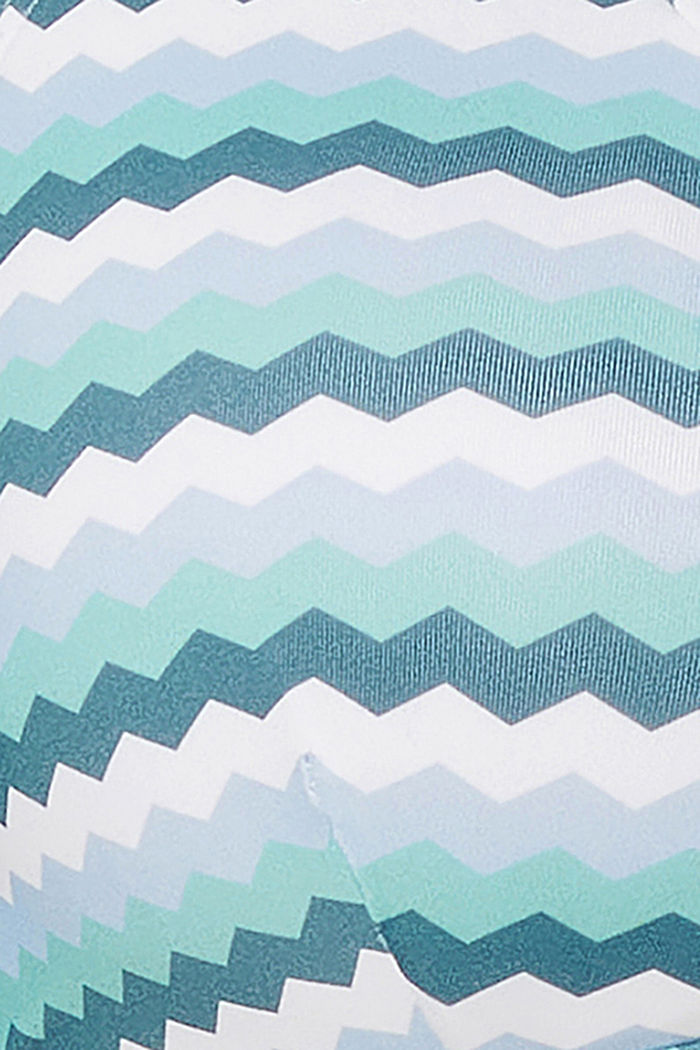 Padded bikini top with a zig-zag print, LIGHT BLUE, detail image number 1