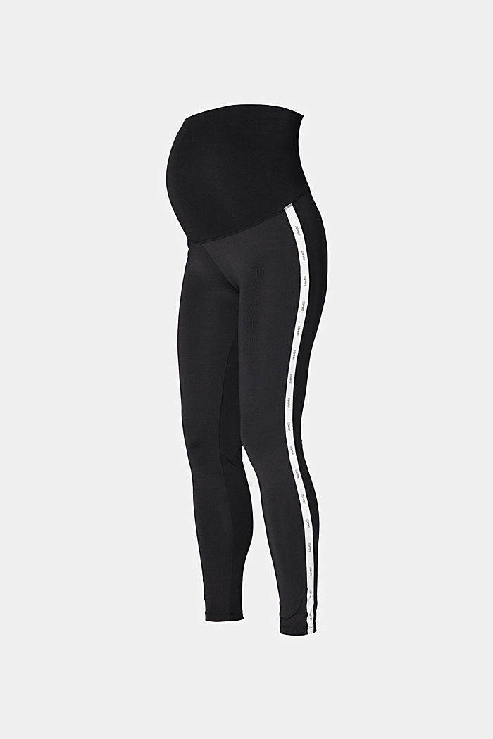 Activewear leggings with logo stripes