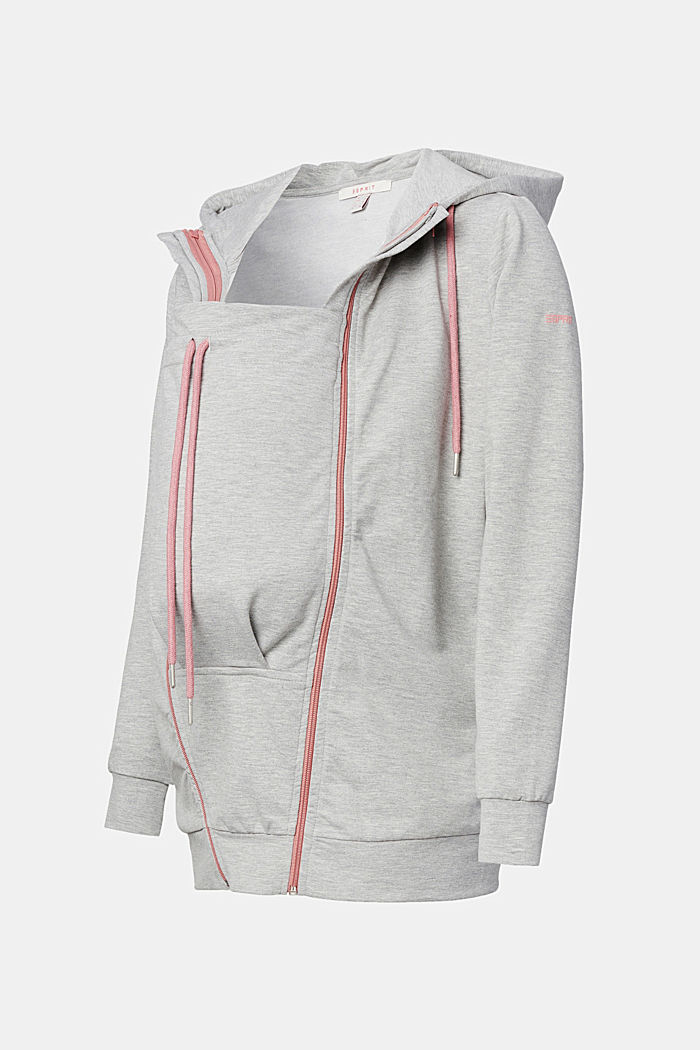 3-way, hooded sweatshirt jacket
