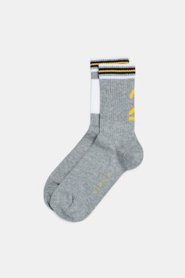 2-pack of socks with ribbed cuffs, LIGHT GREY, detail