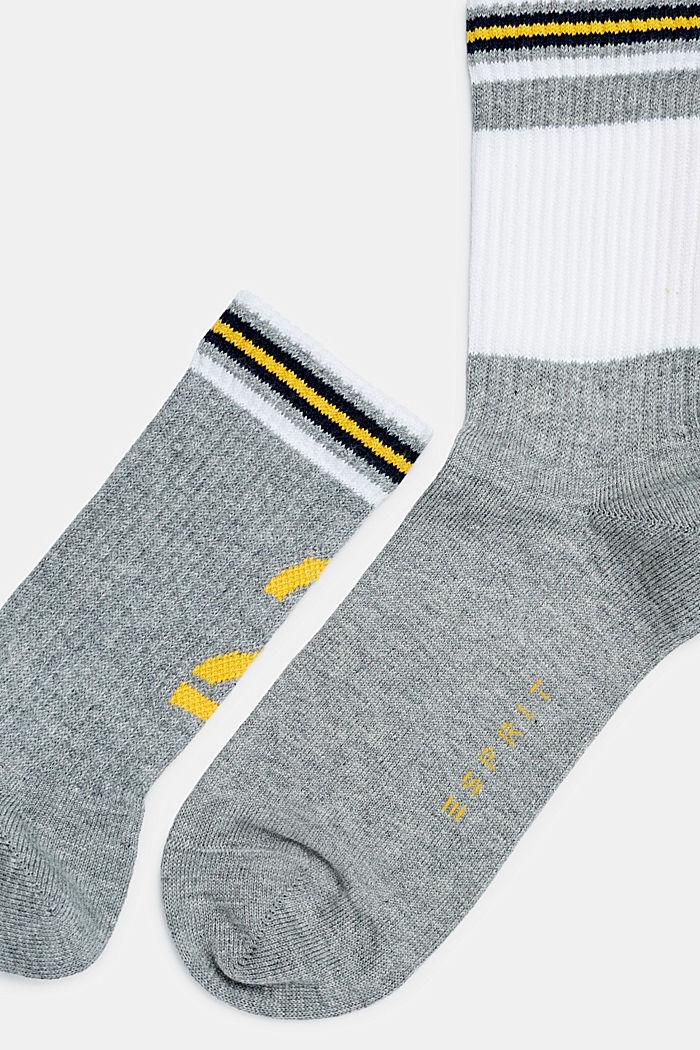 2er-Pack Socken mit Ripp-Bündchen, LIGHT GREY, detail image number 1
