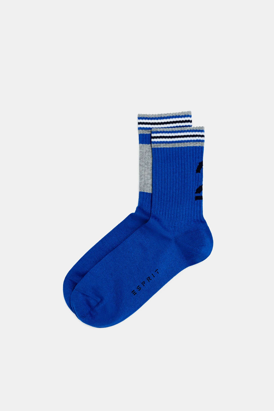2-pack of socks with ribbed cuffs, DEEP BLUE, detail image number 0