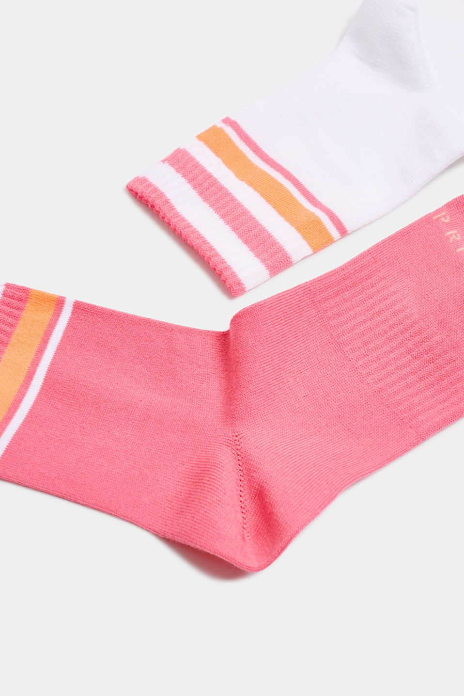 NEON in a double pack: Socks with bright stripes, SORTIMENT, detail image number 1