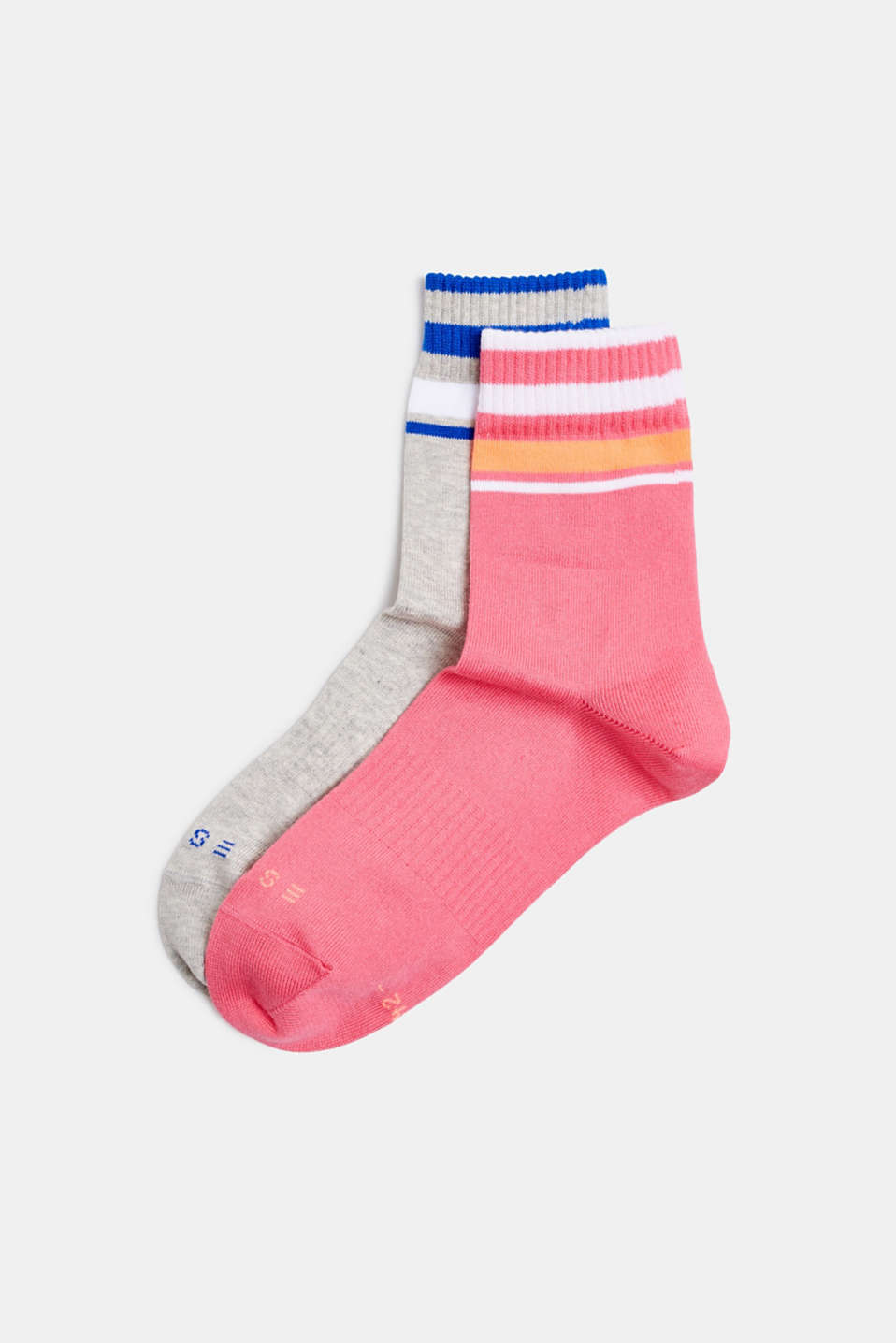 NEON in a double pack: Socks with bright stripes, SORTIMENT, detail image number 0