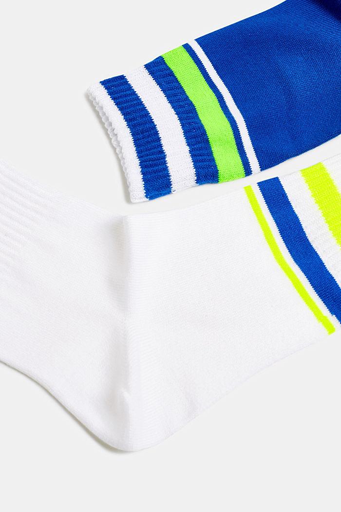 NEON Im 2er-Pack: Socken mit Leuchtstreifen