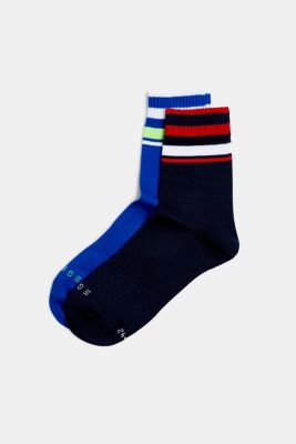 NEON in a double pack: Socks with bright stripes, SORTIMENT, detail