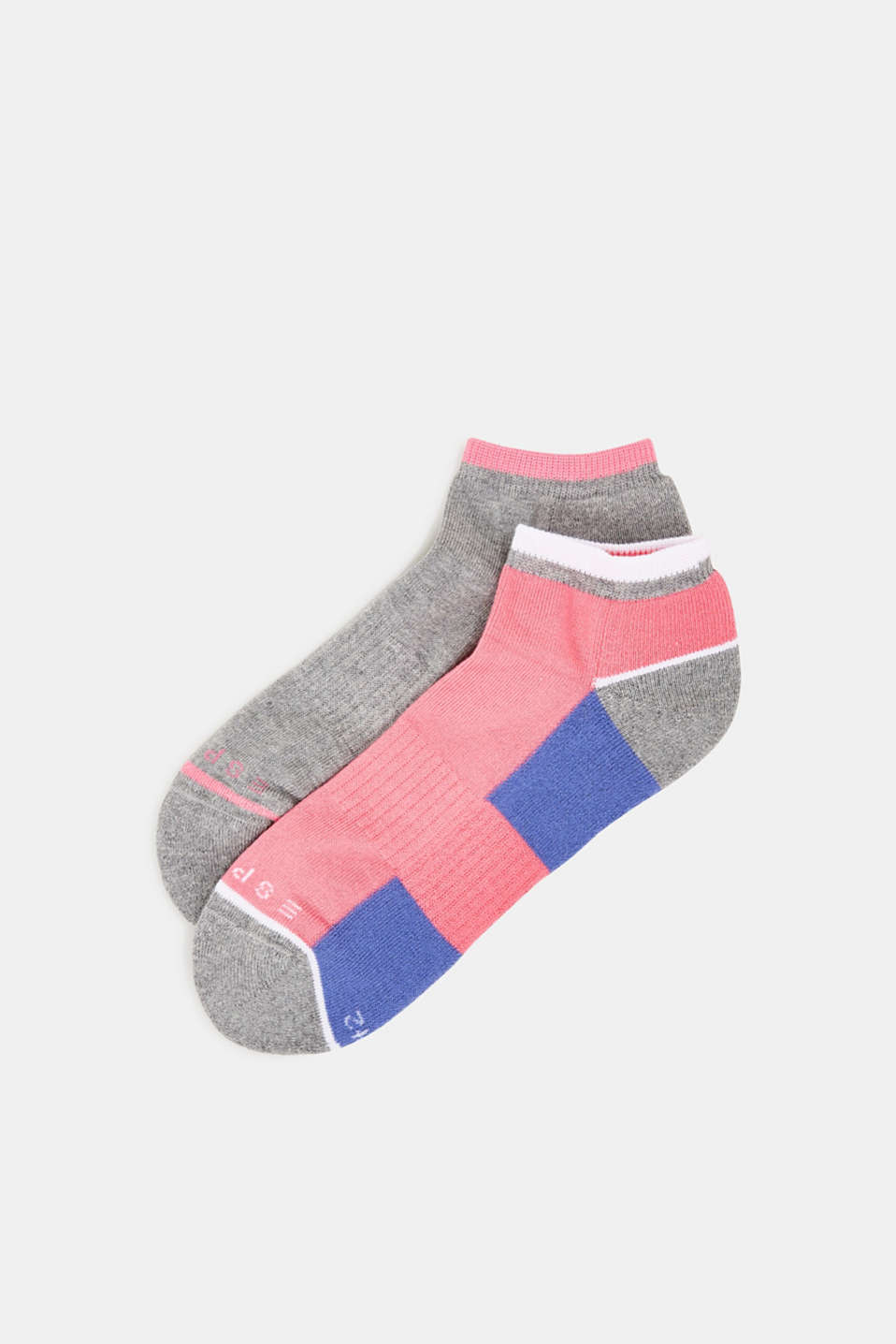 Esprit - 2er Pack Sneaker-Socken mit Color-Block