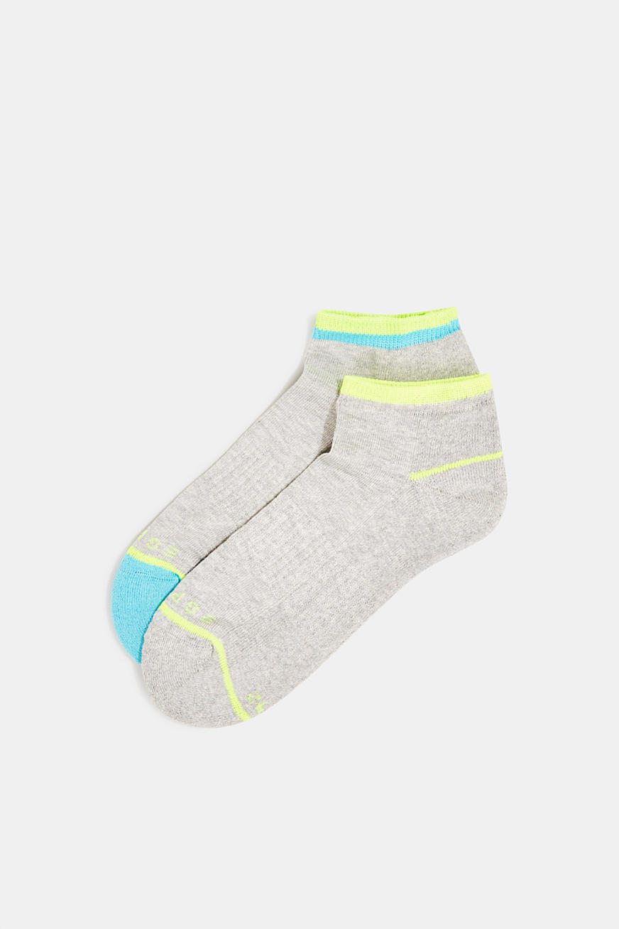 Double pack of trainer socks with colour blocking