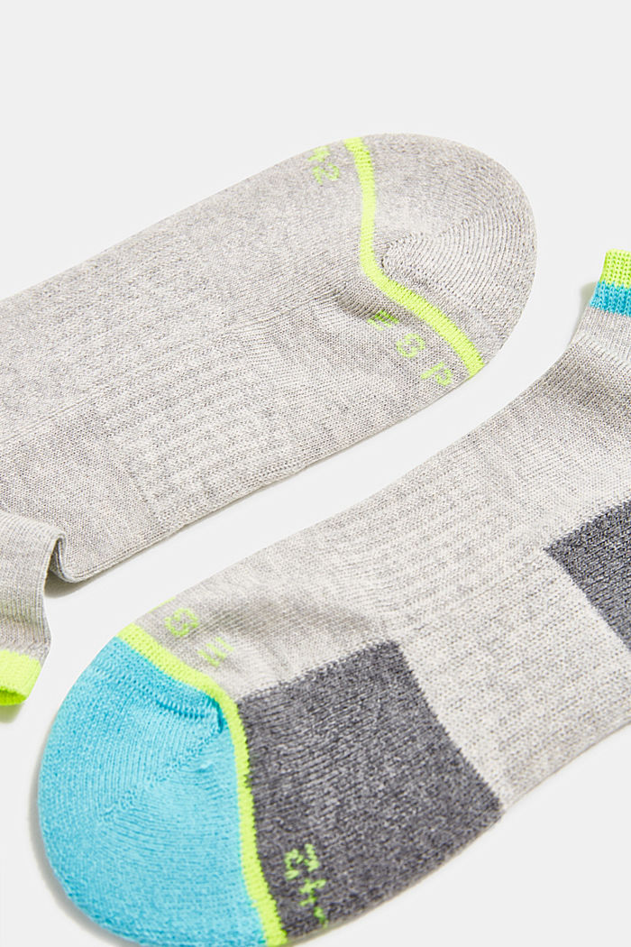 2er Pack Sneaker-Socken mit Color-Block, GREY, detail image number 1