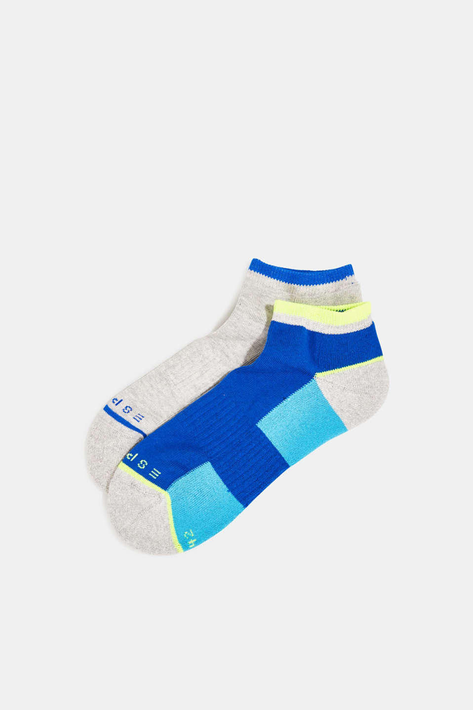 Double pack of trainer socks with colour blocking, SORTIMENT, detail image number 0