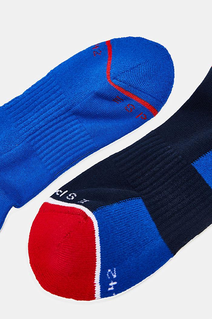 2er Pack Sneaker-Socken mit Color-Block, NAVY/BLUE, detail image number 1