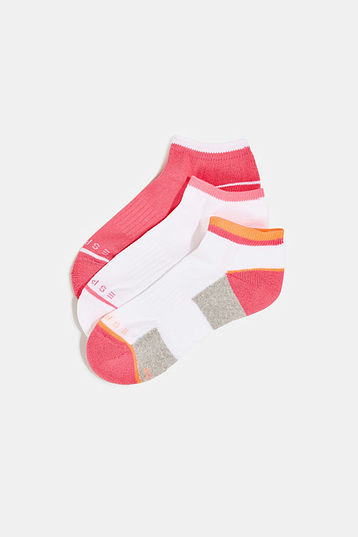 3-pair pack of blended cotton socks