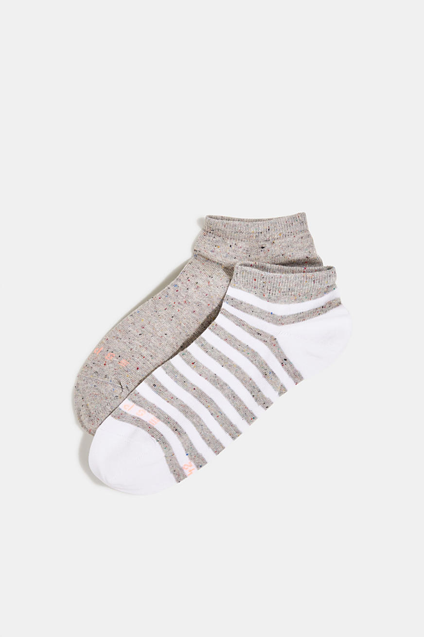 Double pack of trainer socks with silk