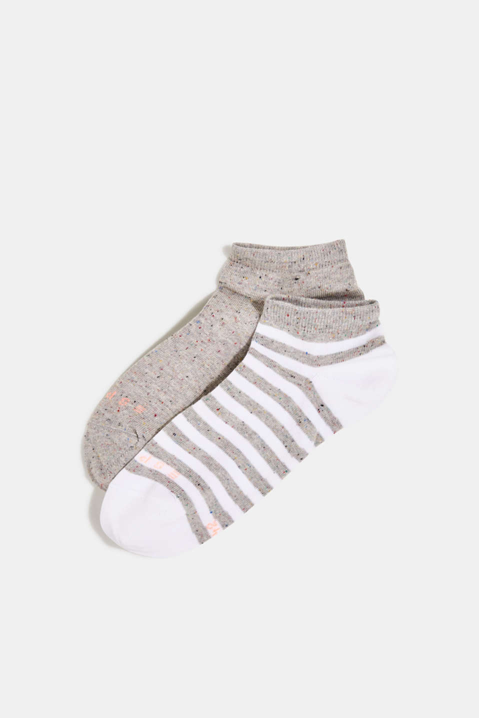 Double pack of trainer socks with silk, LIGHT GREY, detail image number 0