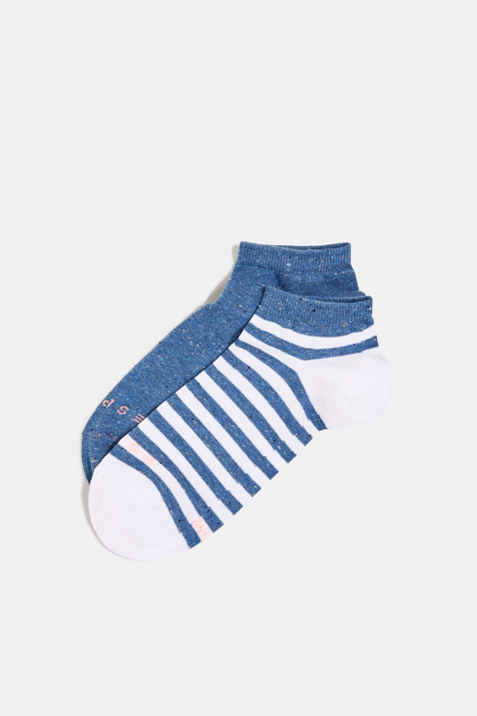 Double pack of trainer socks with silk, LIGHT DENIM, detail image number 0