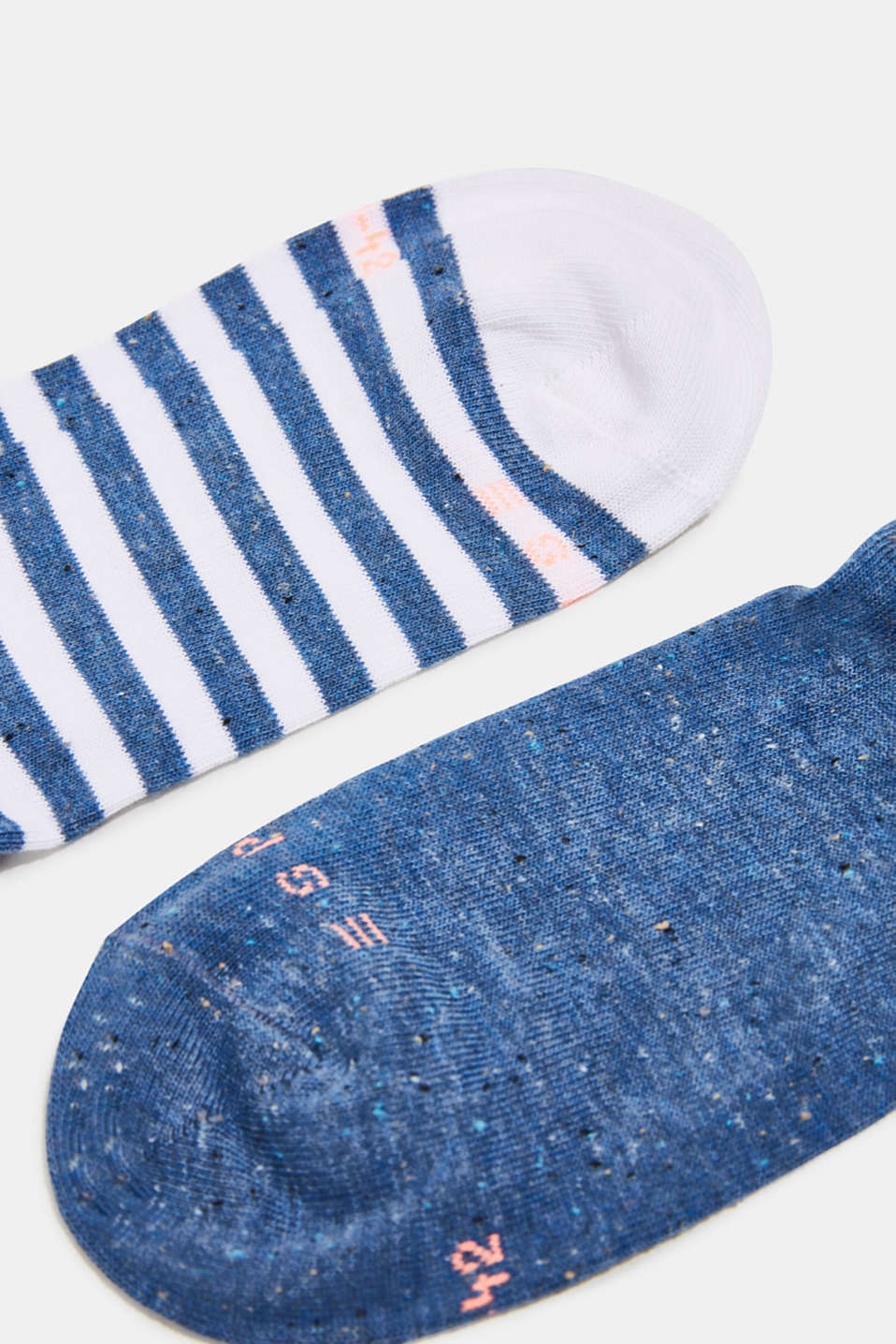 Double pack of trainer socks with silk, LIGHT DENIM, detail image number 1