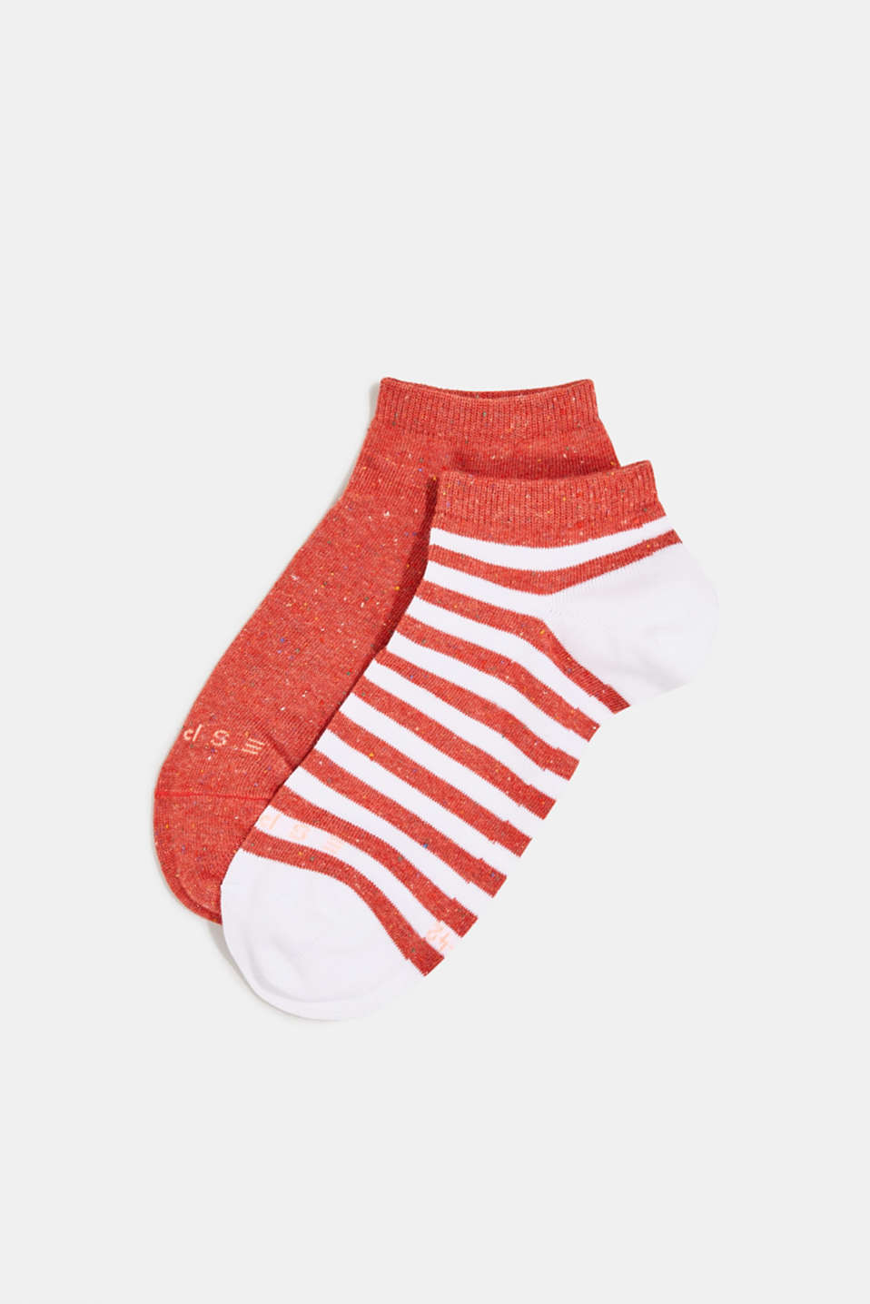 Double pack of trainer socks with silk, ROUGE, detail image number 0