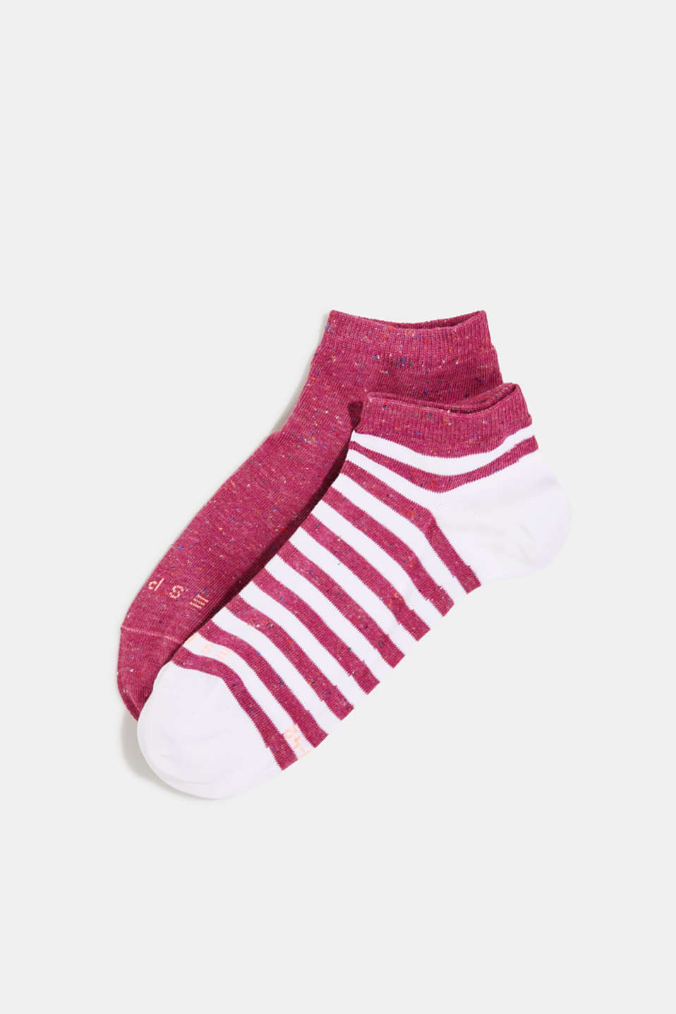 Esprit - Double pack of trainer socks with silk