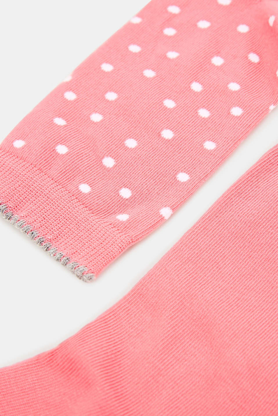 Double pack of socks, plain and with a ladybird motif, FUCHSIA, detail image number 1