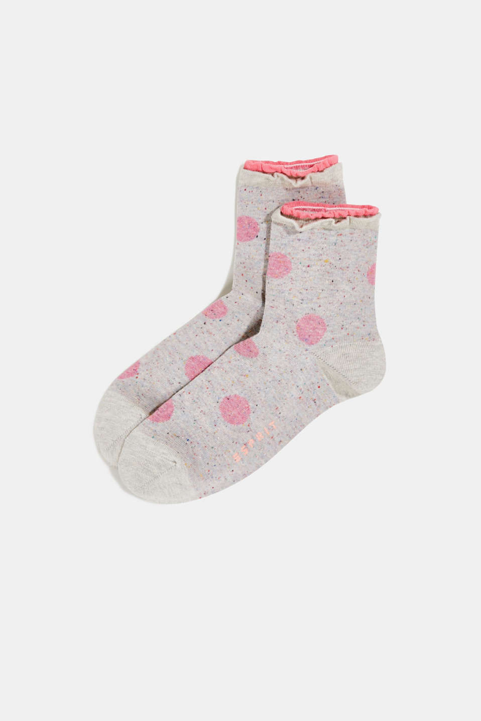 Double pack of socks with polka dots, FUME, detail image number 0