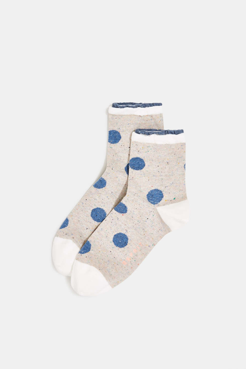Double pack of socks with polka dots, STEEL, detail image number 0